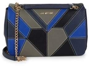 Love Moschino Geometric Colorblocked Crossbody Bag