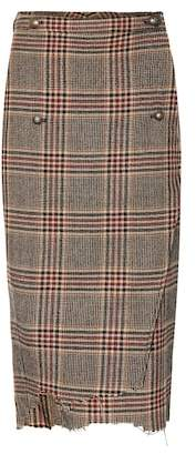 Vetements Checked wool skirt