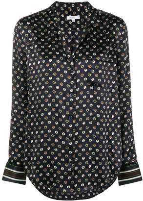 Equipment dotted print shirt