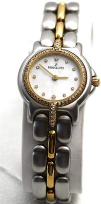 Berto Lucci Bertolucci Watches Bertololucci Mini Vir Steel and 18k Diamond Bezel and Lugs Diamond Hour Markers Mother of Pearl Dial Swiss Women's Watch