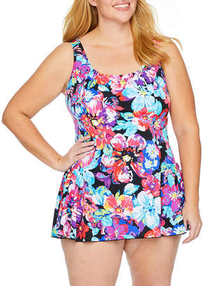 Maxine Of Hollywood AZUL BY Azul by Floral Swim Dress Plus