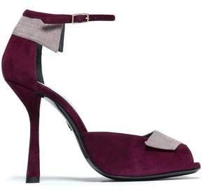 Lanvin Two-Tone Suede Sandals