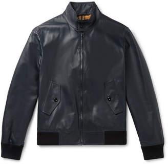 Burberry Leather Blouson Jacket - Midnight blue