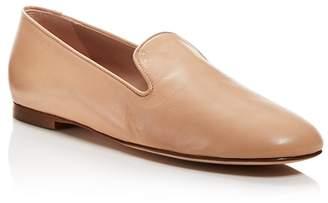 Stuart Weitzman Women's Myguy Leather Smoking Slippers