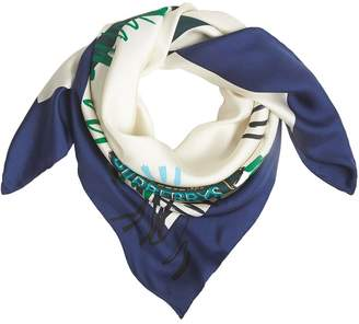 Burberry Scribble Archive Crest square scarf