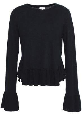 Joie Iona Wool And Silk-Blend Peplum Sweater