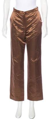 Max Mara Wide-Leg Silk-Blend Pants