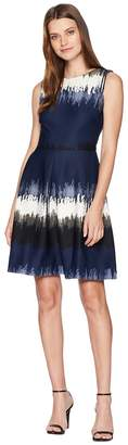 Taylor Tie-Dye Sleeveless Fit and Flare Dress Women's Dress