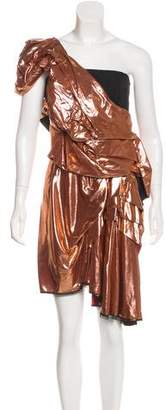 Roksanda One-Shoulder Metallic Dress w/ Tags