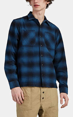 Ralph Lauren RRL Men's Plaid Cotton-Wool Camp-Collar Shirt