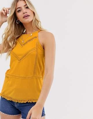 Pimkie insert detail vest in yellow
