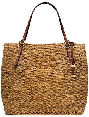 MICHAEL Michael KorsMichael Kors Santorini Large Raffia Tote Bag, Luggage