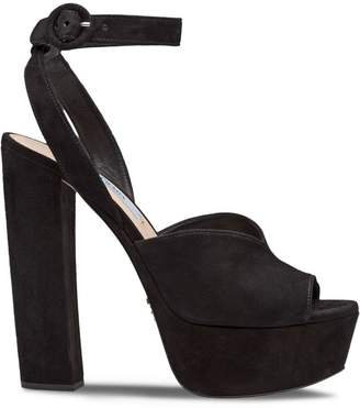 Prada peep-toe platform sandals