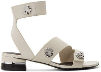 3.1 Phillip Lim Grey 30MM Drum Sandals