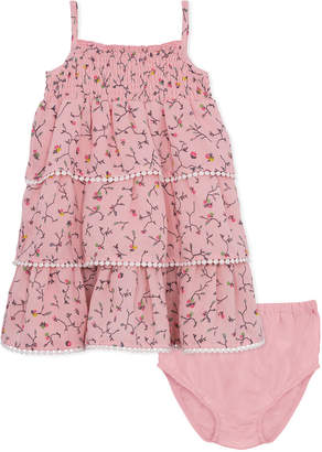BCBGMAXAZRIA Smocked Ruffle Dress and Panty Set
