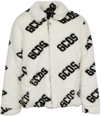 Gcds Monogram Faux Fur Coat