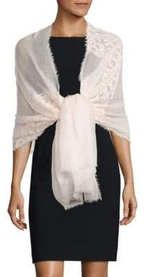 Saks Fifth Avenue Cashmere& Silk Lace Shawl