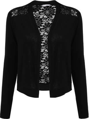 Concep Crochet Lace Cardigans for Women Open Cropped Bolero Shrugs Plus Size S
