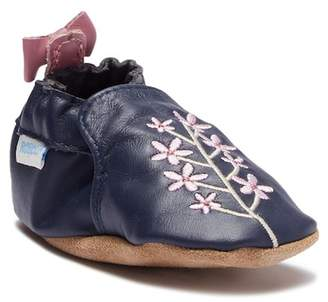 Robeez Soft Sole Bluebell Leather Moccasin (Baby)