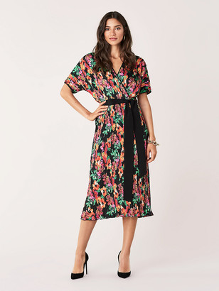 Diane von Furstenberg Autumn Pleated Poly-Blend Dress