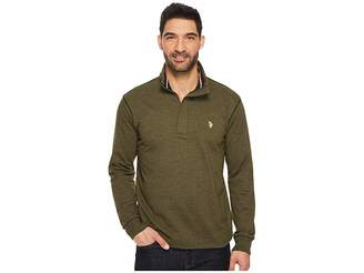U.S. Polo Assn. Long Sleeve French Terry 1/4 Zip Pullover Men's Clothing