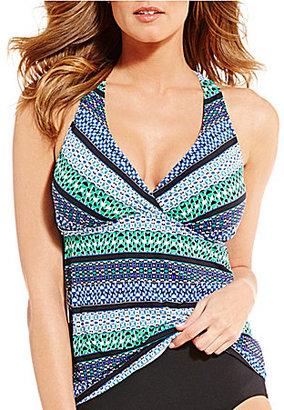 Jantzen Geo Graphic Stripe D/DD H-Back Underwire Tankini $88 thestylecure.com