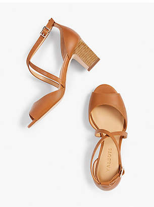 Talbots Gisela Cross-Strap Sandals - Vachetta Leather