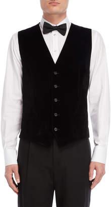 Dolce & Gabbana Black Velvet Vest