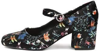 I Love Billy Velda Black print Shoes Womens Shoes Dress Heeled Shoes