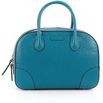 Gucci Bright Satchel Diamante Top Handle Small Blue
