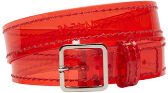 Maison Margiela Red Transparent Wrap Bracelet