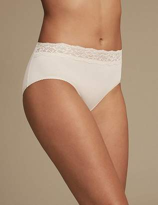 Marks and Spencer 5 Pack Lace High Waisted Midi Knickers