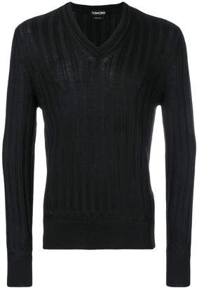 v-neck cable knit jumper