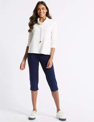 Marks and Spencer Cotton Rich Cropped Joggers