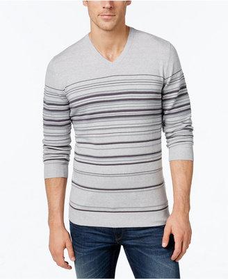 Alfani Men's Striped V-Neck Sweater, Only at Macy's $70 thestylecure.com