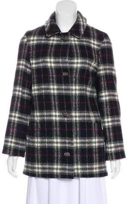 Burberry Plaid Wool Jacket