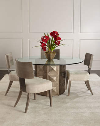 Bernhardt Aletha Glass-Top Dining Table