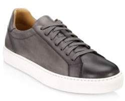 Saks Fifth Avenue COLLECTION BY MAGNANNI Burnished Leather Lace-Up Sneaker