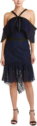 Adelyn Rae Tracy Halter Sheath Dress