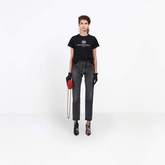 Balenciaga 5-pocket fitted straight leg denim pants