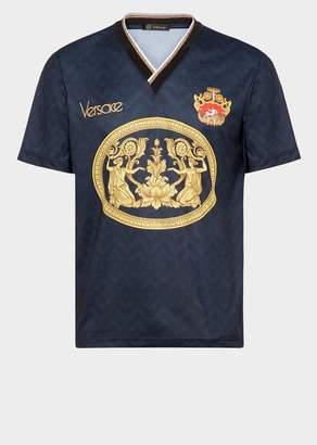 Versace V-Neck Soccer Jersey