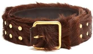 Prada Studded calf-hair belt