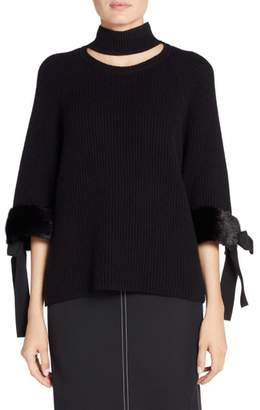 Fendi Cashmere & Genuine Mink Fur Sweater