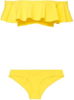 'Mira' flounce off-shoulder bikini set