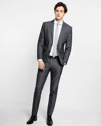 Express Slim Black Cotton Blend Suit Pant