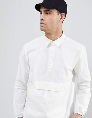 Penfield Adelanto Overhead Shirt Kangaroo Pocket in White