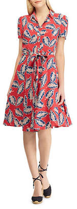 Chaps Short-Sleeve Casual Fit-and-Flare Dress