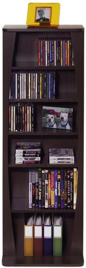 Atlantic Canoe 231-CD or 115-DVD-Blu-Ray or Games Wood Look Cabinet in Espresso
