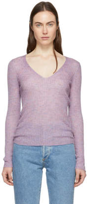Rag & Bone Purple Donna V-Neck Sweater
