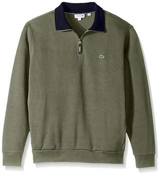 Lacoste Men's Rib Interlock 1/2 Zip Sweatshirt